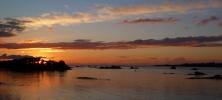 paysage roscoff coucher soleil